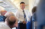 Spartak Trnava v St Johnstone...06.08.14  Europa League Qualifier 3rd Round<br /> Chairman Steve Brown all smiles on the flight to Bratislava<br /> Picture by Graeme Hart.<br /> Copyright Perthshire Picture Agency<br /> Tel: 01738 623350  Mobile: 07990 594431