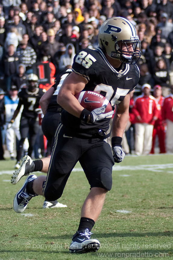 Purdue running back Dan Dierking. The Wisconsin Badgers defeated the Purdue Boilermakers 34-13 at Ross-Ade Stadium, West Lafayette, Indiana on November 6, 2010.