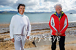 Enjoying a stroll in Fenit on Saturday, l to r: Carol Benner and Noreen Kavanagh.