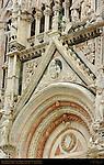Left Portal Tympanum, Gothic Statuary, 13th c. Facade, Giovanni Pisano, Cathedral of Siena, Santa Maria Assunta, Siena, Italy
