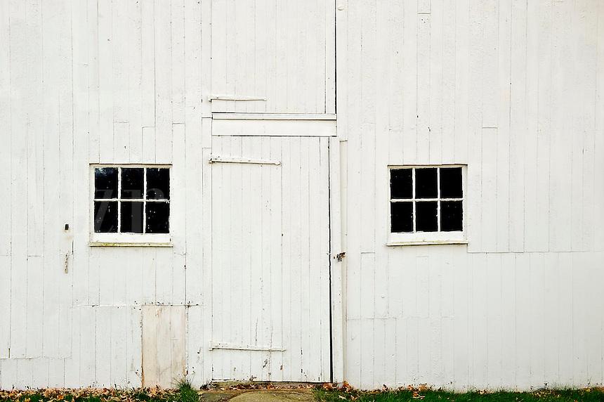 White barn facade, Connecticut, CT