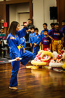 A martial arts demonstration with a knife was presented by a member of  the Vovinam Viet-Do-Dao of San Jose during a Lunar New Year celebration at the San Leandro Main Library.