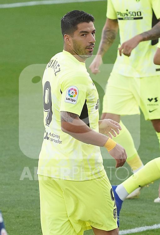 Atletico de Madrid's Luis Suarez during La Liga match. September 30,2020. (ALTERPHOTOS/Acero)
