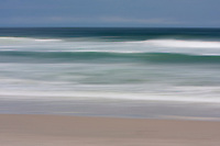 Atlantic Ocean Breakers Abstract, Outer Banks, North Carolina.  Gentle Meeting of Water and Sand.  Panning for Effect.