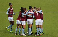 Aston Villa players celebrating their first goal during Tottenham Hotspur Women vs Aston Villa Women, Barclays FA Women's Super League Football at the Hive Stadium on 13th December 2020