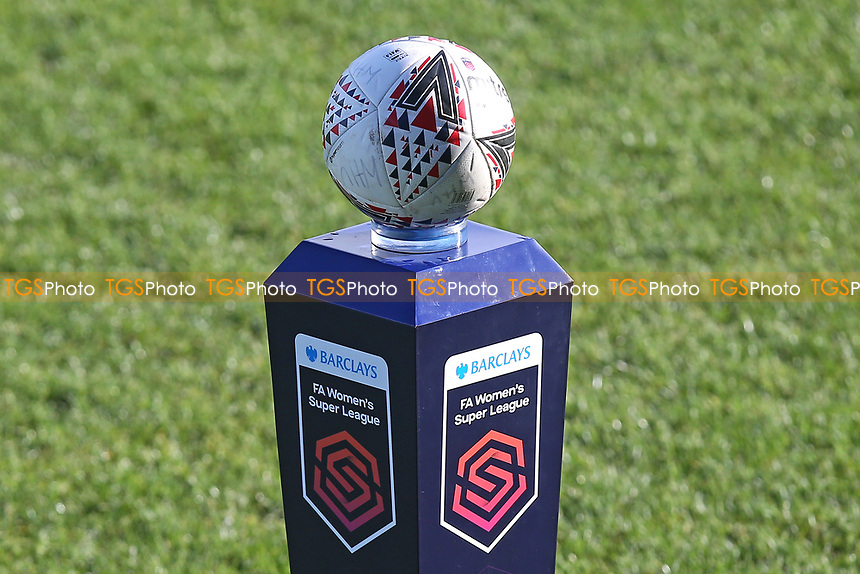 The match ball during West Ham United Women vs Brighton & Hove Albion Women, Barclays FA Women's Super League Football at the Chigwell Construction Stadium on 15th November 2020