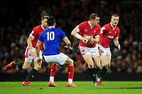 Hadleigh Parkes of Wales in action during the Guinness Six Nations Championship Round 3 match between Wales and France at the Principality Stadium in Cardiff, Wales, UK. Saturday 22 February 2020