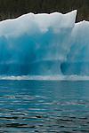 Alaska, Prince William Sound, USA, Blue ice, Iceberg detail, Columbia Bay,