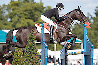 NZL-Jonelle Price (CLASSIC MOET) FINAL-5TH: SHOWJUMPING: 2015 GBR-Land Rover Burghley Horse Trial (Sunday 6 September) CREDIT: Libby Law COPYRIGHT: LIBBY LAW PHOTOGRAPHY
