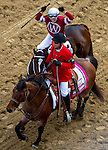MAY 2, 2014: Rosie Napravnik reacts after winning the Kentucky Oaks Stakes riding Untapable at Churchill Downs in Lexington, KY. Jon Durr/ESW/CSM