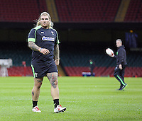 Monday 3 November 2014<br />Pictured: Richard Hibbard<br />Re: Wales rugby squad train for the Dove Men series autumn internationals on the new pitch at the Millennium Stadium, Cardiff, United Kingdom.