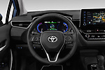 Car pictures of steering wheel view of a 2019 Toyota Corolla Dynamic 4 Door Sedan