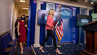 White House Press Secretary Kayleigh McEnany arrives to give remarks during a press briefing in the James S. Brady Briefing Room of the White House in Washington, D.C. on Wednesday, May 20, 2020.<br /> Credit: Tasos Katopodis / Pool via CNP/AdMedia