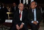 FEDELE CONFALONIERI CON ANTONIO CATRICALA'<br /> PREMIO GUIDO CARLI - QUINTA EDIZIONE<br /> PALAZZO DI MONTECITORIO - SALA DELLA REGINA<br /> CON RICEVIMENTO A PALAZZO COLONNA ROMA 2014