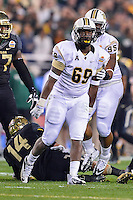 January 01, 2014:<br /> <br /> UCF Knights defensive lineman Thomas Niles #69 celebrates after a sack during Tostitos Fiesta Bowl at University of Phoenix Stadium in Scottsdale, AZ. UCF defeat Baylor 52-42 to claim it's first ever BCS Bowl trophy.