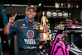 Antron Brown, Matco Tools, top fuel, victory, celebration, trophy