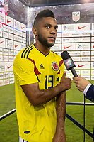 Tampa, FL - Thursday, October 11, 2018: Miguel Borja during a USMNT match against Colombia.  Colombia defeated the USMNT 4-2.