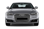 Car photography straight front view of a 2016 Audi A6 - 4 Door Sedan Front View