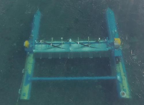 The RivGen device operating in the Alaskan Kvichak River in April 2020