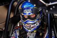 Jan 21, 2007; Las Vegas, NV, USA; NHRA Funny Car driver Tommy Johnson Jr during preseason testing at The Strip at Las Vegas Motor Speedway in Las Vegas, NV. Mandatory Credit: Mark J. Rebilas
