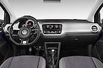 Stock photo of straight dashboard view of a 2014 Volkswagen up! Cross up! 5 Door Hatchback 2WD Dashboard