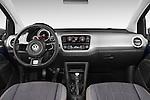 Stock photo of straight dashboard view of a 2014 Volkswagen up! Cross up! 5 Door Hatchback 2WD Dashboard
