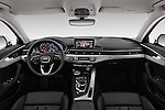 Stock photo of straight dashboard view of 2017 Audi A4-Allroad Design-Luxe 5 Door wagon Dashboard
