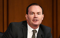 United States Senator Mike Lee (Republican of Utah), speaks during a US Senate Judiciary Committee business meeting in the Hart Senate Office Building on Capitol Hill in Washington, DC on October 15, 2020. <br /> Credit: Mandel Ngan / Pool via CNP /MediaPunch