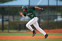 Dartmouth Big Green right fielder Mike Brown (24) steals second base during a game against the Southern Maine Huskies on March 23, 2017 at Lake Myrtle Park in Auburndale, Florida.  Dartmouth defeated Southern Maine 9-1.  (Mike Janes/Four Seam Images)