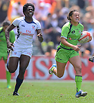 USA vs Australia during the Women Semi-final on Day 2 of the 2012 Cathay Pacific / HSBC Hong Kong Sevens at the Hong Kong Stadium in Hong Kong, China on 24th March 2012. Photo © Felix Ordonez  / The Power of Sport Images
