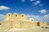 Ruins of Qasr Amra, an 8th century Muslim castle in the desert, Jordan.