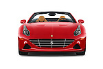 Car photography straight front view of a 2015 Ferrari California T 2 Door Convertible Front View