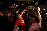 PA - CONVENCAO/PMDB/LULA - POLITICA - ATENCAO, EDITOR: FOTO EMBARGADA PARA VEICULOS DO ESTADO DO PARA. O ex-presidente Luiz Inácio Lula da Silva , candidato senador Paulo Rocha PT  e candidato Governo  Helder Barbalho PMDB participam de convenção do PMDB do Para, em Belem, nesta segunda- feira.<br />  <br /> Foto: TARSO SARRAF