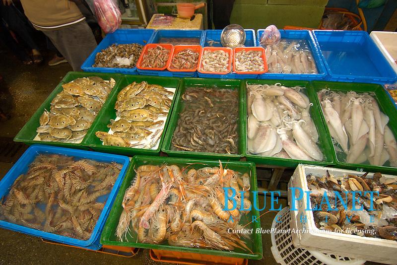 Fresh seafood for sale at Nanfang'ao fish market, Suao, Taiwan (Republic of China)
