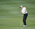 Richard McEvoy of England hits the ball during Hong Kong Open golf tournament at the Fanling golf course on 24 October 2015 in Hong Kong, China. Photo by Xaume Olleros / Power Sport Images