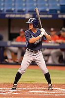 Tampa Bay Rays outfielder Braxton Lee (40) during an Instructional League game against the Boston Red Sox on September 25, 2014 at Tropicana Field in St. Petersburg, Florida.  (Mike Janes/Four Seam Images)
