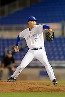 Dunedin Blue Jays pitcher Marco Grifantini #19 during a game against the Clearwater Threshers at Florida Auto Exchange Stadium on April 4, 2013 in Dunedin, Florida.  Dunedin defeated Clearwater 4-2.  (Mike Janes/Four Seam Images)