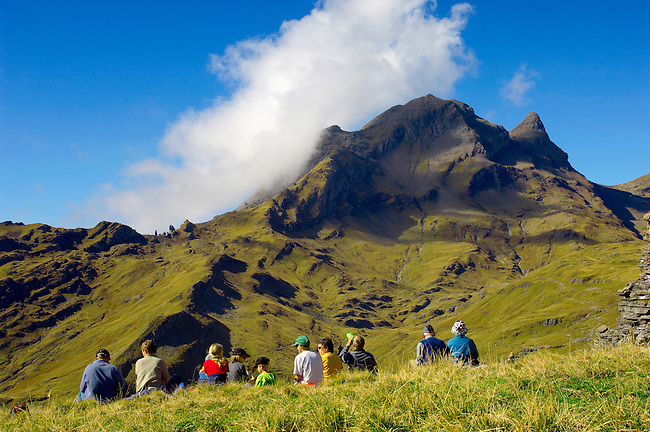 Walkers  - Grindelwald First- Swiss Alps, Switzerland