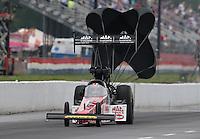May 10, 2013; Commerce, GA, USA: NHRA top fuel dragster driver Doug Kalitta during qualifying for the Southern Nationals at Atlanta Dragway. Mandatory Credit: Mark J. Rebilas-