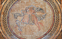 Eros and Psique. 3rd century Roman Mosaic from the Alcazar of Cordoba, Spain