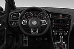 Car pictures of steering wheel view of a 2018 Volkswagen Golf GTI SE 5 Door Hatchback