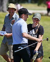 Tyler Hodge defeats Jimmy Zheng during the New Zealand Amateur Golf Championship, Poverty Bay Golf Course, Awapuni Links, Gisborne, Saturday 24 October 2020. Photo: Simon Watts/www.bwmedia.co.nz