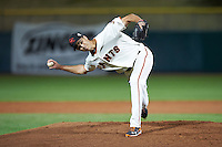 Scottsdale Scorpions pitcher Tyler Rogers (47), of the San Francisco Giants organization, during a game against the Mesa Solar Sox on October 17, 2016 at Scottsdale Stadium in Scottsdale, Arizona.  Mesa defeated Scottsdale 12-2.  (Mike Janes/Four Seam Images)
