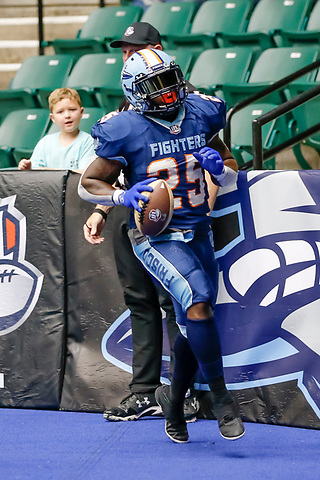Frisco, Texas, July 9: Frisco Fighters v Iowa Barnstormers on July 9, 2021 at Comerica Center in Frisco, Texas. Photo:Rick Yeatts Photography/Matt Pearce