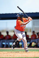 GCL Astros third baseman Wander Franco (22) at bat during a game against the GCL Nationals on August 14, 2016 at the Carl Barger Baseball Complex in Viera, Florida.  GCL Nationals defeated GCL Astros 8-6.  (Mike Janes/Four Seam Images)