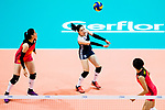 Libero Li Lin of China (C) pass during the FIVB Volleyball World Grand Prix match between China vs Japan on July 21, 2017 in Hong Kong, China. Photo by Marcio Rodrigo Machado / Power Sport Images