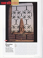 "Condé Nast Traveler (U.S. edition), June 2000, ""Room with a View"" feature.  <br />