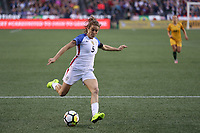 Seattle, WA - Thursday July 27, 2017: Kelley O'Hara during a 2017 Tournament of Nations match between the women's national teams of the United States (USA) and Australia (AUS) at CenturyLink Field.