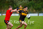 Tony Brosnan Dr Crokes takes on the Kenmare  defence during their Club Championship game in Lewis Road on Sunday