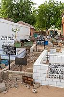 Senegal, Touba.  Mouride Cemetery, opposite the Grand Mosque.